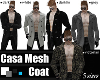 casa Mesh Mens  Coat (grey)