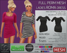 TD Templates Mesh Ladies Roma Dress
