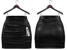 Maitreya Mini Skirt * Dark Leather Black