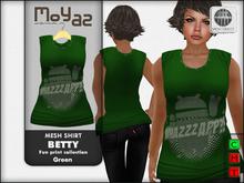 Betty Mesh Shirt - Fun print collection - green