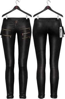 Maitreya Leather Skinny Pants * Black
