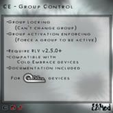 EBMod - CE Plugins - Group Control