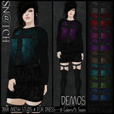 :::Sn@tch Tara Mesh Dress-All Colors (Large):::