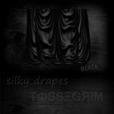 [FOSSEGRIM] - silky drapes - black