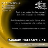 Random Notecard Line - Full Perm Set