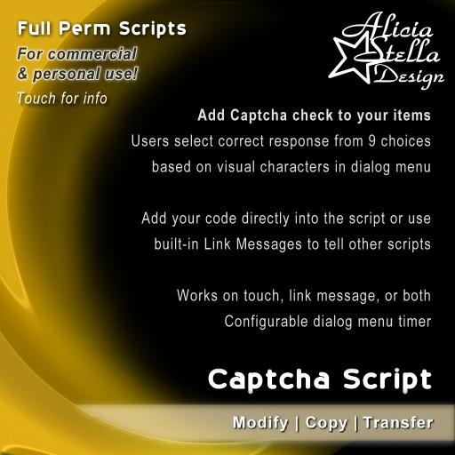 Captcha Script - Full Perm Set