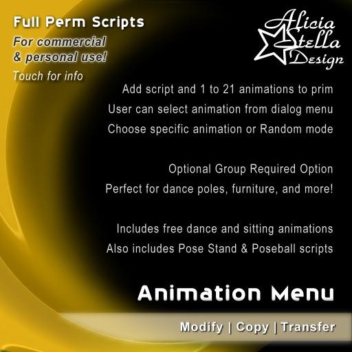 Animation Menu Script - Full Perm Script