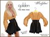 Tunic mesh dress ad golden
