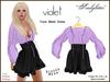 *Soulglitter* Tunic Mesh Dress - Purple & Violet