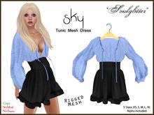 *Soulglitter* Tunic Mesh Dress - Royal & Sky