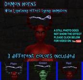 """Dämon Hörner mit besonderen """"lightning effect"""" Typisierung Animation, inklusive 3 Arten"""