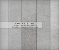 Concrete Loft { 36 seamless & shaded textures } natural, aged & grungy styles for ceilings, walls & floors
