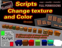 Scripts change texture and color box