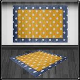 *~LT~* Yellow/Blue spot Rug
