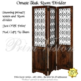 *PV* Ornate Teak Room Divider