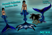 Mermaid Collection Mesh Emotion Blue