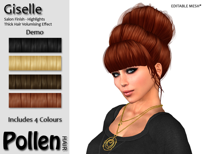 Pollen Hair - Giselle - DEMO With 4 Colours