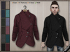 DN Mesh (m): Buttoned Coat  w HUD