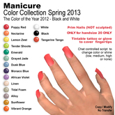 Square Prim Nails - Color Collection Spring 2013