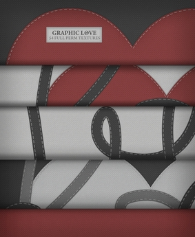 Graphic Love ♥ { 54 full perm fabric textures } Valentine's Day already? ♥