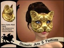Fancy Gatto (Cat) Mask - Gold