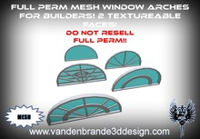 ~Full perm MESH arched windows pack