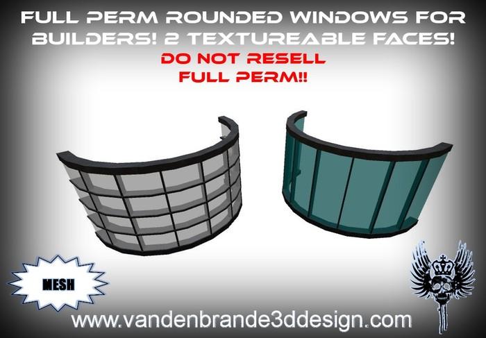~Full perm MESH Rounded window frames