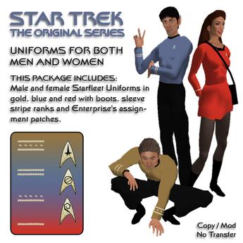 STAR TREK, TOS, Starfleet Uniforms