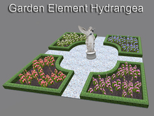 Baroque Garden Element Hydrangea (mesh with only 6 prims)