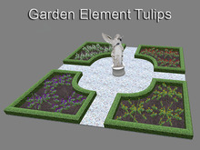 Baroque Garden Element Tulips (mesh with only 6 prims)