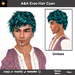 A&A Eroo Hair Cyan (Special Color). Unisex short hairstyle