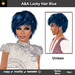 A&A Lucky Hair Blue (Special Color), unisex fluffy sexy  flexi hairstyle