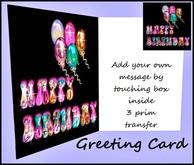 Greeting Card Happy Birthday Sparkles
