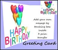 Greeting Card Happy Birthday Balloons