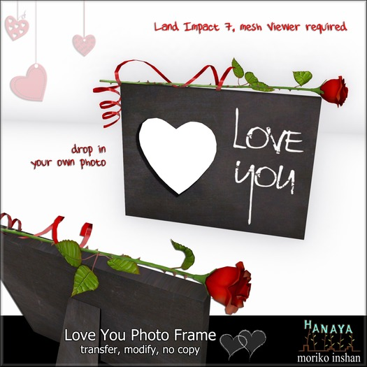 -Hanaya- Love You Photo Frame (pack of 2)
