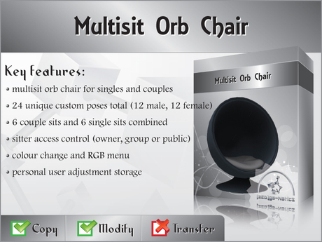 [zED] Multisit Orb Chair w/ Colour Change Menu