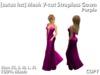 [satus Inc] Mesh V-Cut Strapless Gown - Purple
