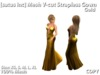 [satus Inc] Mesh V-Cut Strapless Gown - Gold