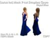 [satus Inc] Mesh V-Cut Strapless Gown - Royal Blue