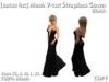 [satus Inc] Mesh V-Cut Strapless Gown - Black