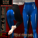 KDC Allycat latex riding pants (black & light blue)