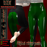 KDC Allycat latex riding pants (black & green)