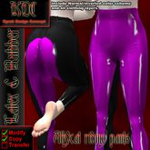 KDC Allycat latex riding pants (black & pink)