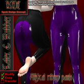 KDC Allycat latex riding pants (black & purple)