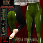 KDC Allycat latex riding pants (black & olive)