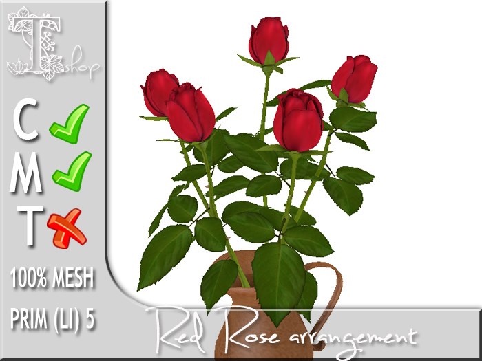 TERRASHOP- Red rose arrangement MC 100% original mesh