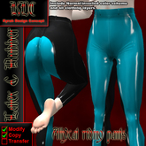KDC Allycat latex riding pants (black & sweet blue)