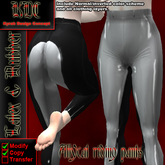 KDC Allycat latex riding pants (black & white)