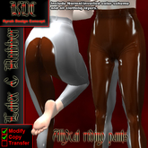 KDC Allycat latex riding pants (white & brown)