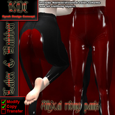KDC Allycat latex riding pants (black & red)